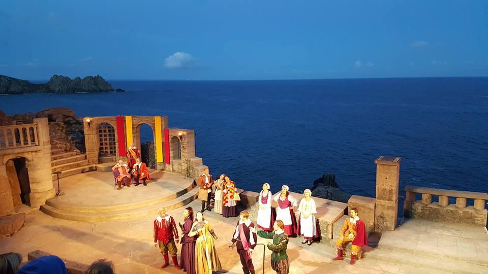 Minack Theatre play in action at Porthcurno