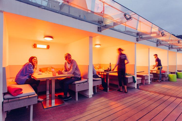 Porthmeor Cafe sunset