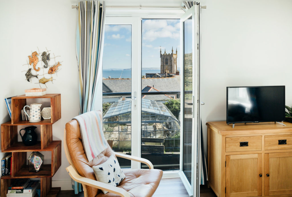 Views from 1 The Elms in St Ives with Easy Chair