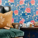 6 Barnoon Terrace is full of unique designs including this floral wallpaper