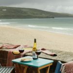 Sea views from the balcony that adjoins Porthmeor beach in St Ives at 6 Barnaloft.