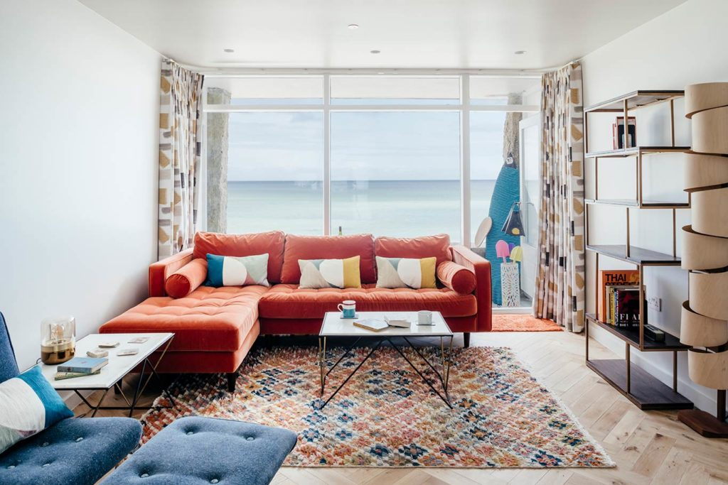 6 Barnaloft Living Room with sea views over Porthmeor beach