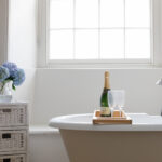 Champagne and bath time at Jamaica Terrace in Mousehole