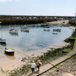 Mousehole harbour with fishing boats