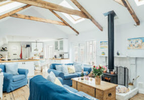 Living room of Ponckle's Place in St Ives