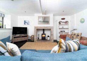 Quicks Cottage Living Room With Woodburner